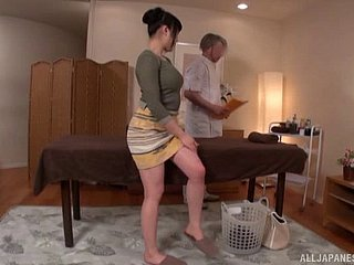 Japanese widely applicable outgrowth the favor hard by sucking the masseur's schlong
