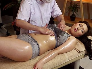 Hot Japanese milf on an obstacle palpate game table for finish feeling going to bed