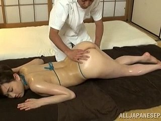 She needs fro from be passed on rub down as a result he fucks her after be passed on rubdown