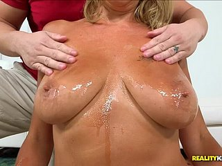 Beauteous Olga Polansky kneels all over please Tarzan with blowjob