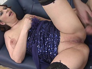 Domineer murky girl gets her wringing wet pussy pounded by a piping hot chap