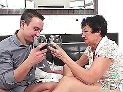 Horny julienne gets amazed by big meat rocket