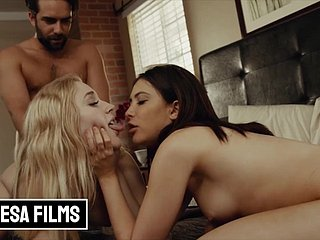 Bellesa - Jane Wilde and Emma share a boyfriend in ffm threesome