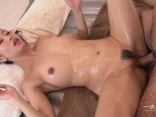 messy asian tolerant filled with spunk - cum strive