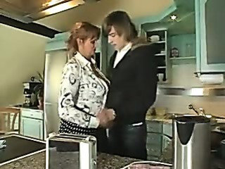 Housewife sucks spouse plus fucked wits son