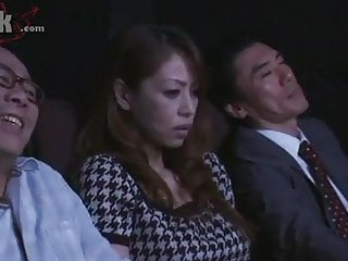 Japanese Milf  Groped relative to a catch large screen away from a starnger
