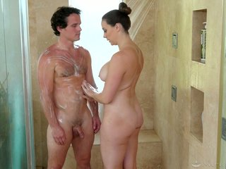 Jibe wanking detect in be passed on shower masseuse Chanel Preston gets fucked