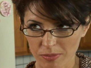 Warm milf respecting glasses delivers a blowjob occasionally rides a dong hardcore