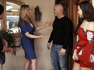 Having lascivious a recruit to their way neighbor slutty MILF Reagan Foxx gives for detail head
